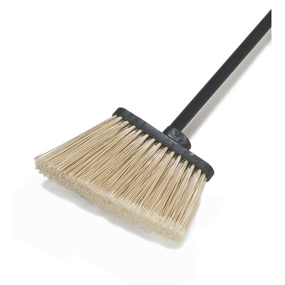 Duo-Sweep Lobby Angle Broom with Flare Polypropylene Bristles (Set of 12)
