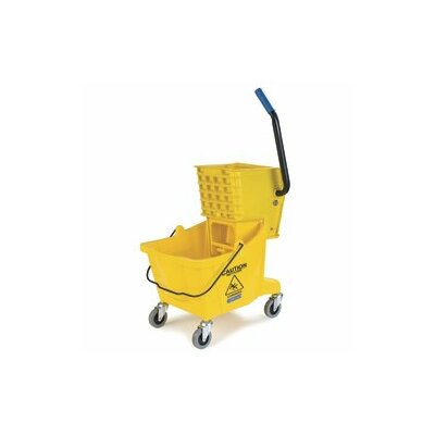 26 Qt. Bucket with Side Press Wringer Color: Yellow