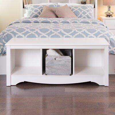 Monterey Storage Bedroom Bench Finish: White