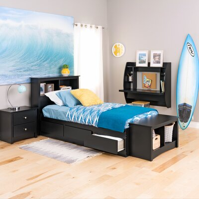 Wanda Platform Bed Finish: Black, Size: King