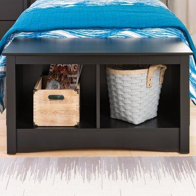 Sonoma Storage Bedroom Bench Finish: Black