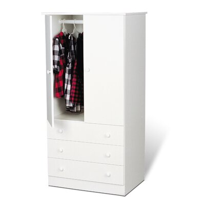Rent to own Casual Bedroom Armoire Finish: Whit...