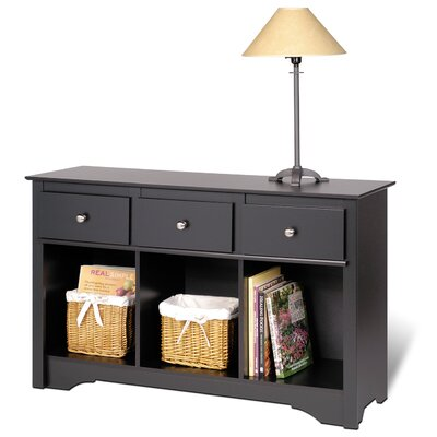 Black Side Tables  Living Room on Prepac Black Sonoma Living Room Console Table   Blc 4830