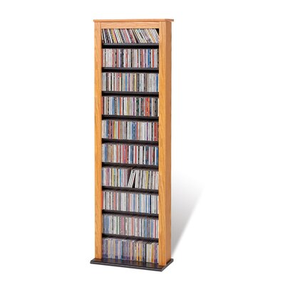 Slim Barrister Multimedia Storage Rack Finish: Light Wood