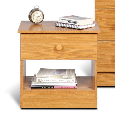 1 Drawer Nightstand Finish Oak