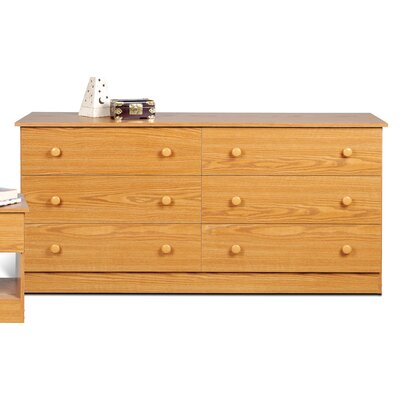 Credit for 6 Drawer Dresser Finish: Oak...