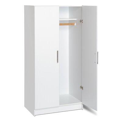 Wayfair Basics 65H x 32W x 20D White Wardrobe Cabinet