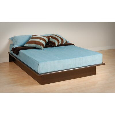 No credit check financing Platform Bed Size: Full, Finish: Es...