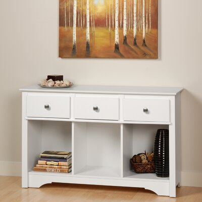 Cheap Prepac Monterey Living Room Console Table in White (PRP1294)