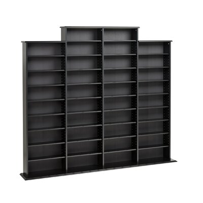 Quad Multimedia Storage Rack Finish: Black