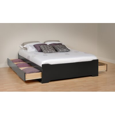 Oleanna Storage Platform Bed Color: Black, Size: Full