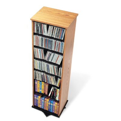 Deliah 2 -Sided Multimedia Revolving Tower Color: Oak