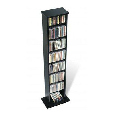 Slim Multimedia Storage Tower Finish: Black