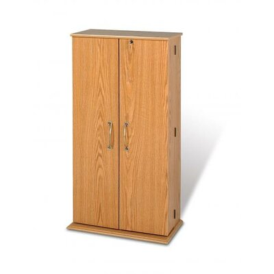 Deluxe Multimedia Locking Storage Cabinet with Shaker Doors Finish: Oak OVS-0205