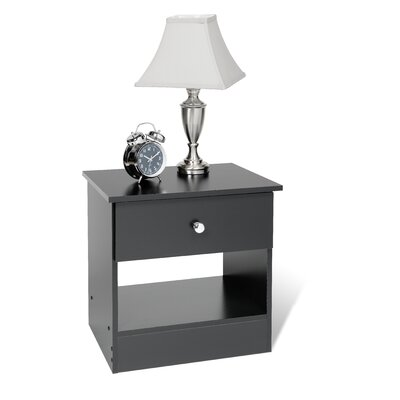 1 Drawer Nightstand Finish Black