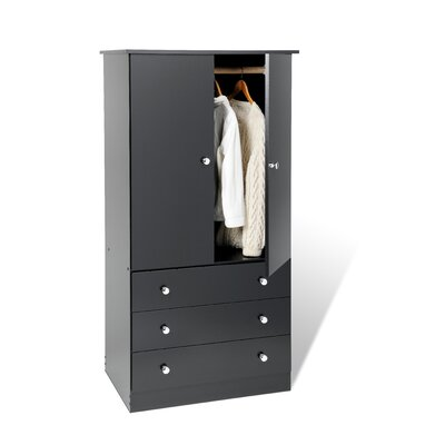 Furniture rental Casual Bedroom Armoire Finish: Blac...