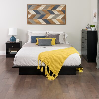 Roselawn Platform Bed Size: Queen, Finish: Black
