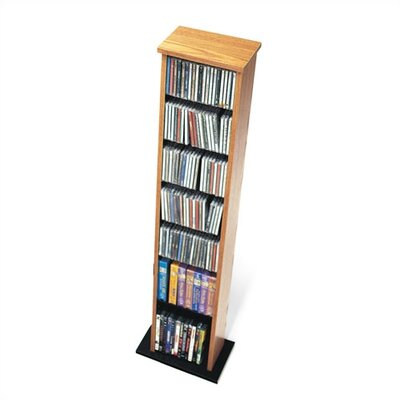 Deliah Slim Multimedia Storage Tower Finish: Natural