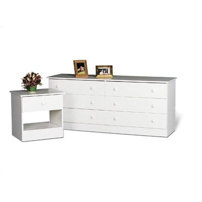 No credit financing 6 Drawer Dresser Finish: White...