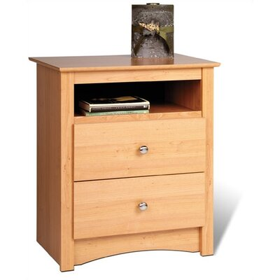 Prepac Sonoma 2 Drawer Nightstand - Finish: Maple