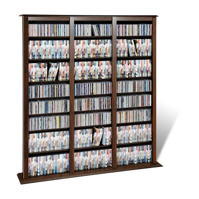 Triple Width Espressso Barrister Multimedia Storage Rack