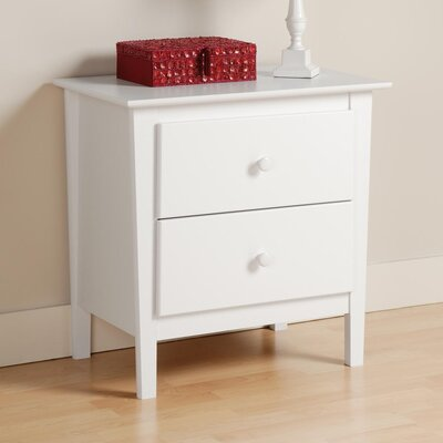 Berkshire 2 Drawer Nightstand Finish: White