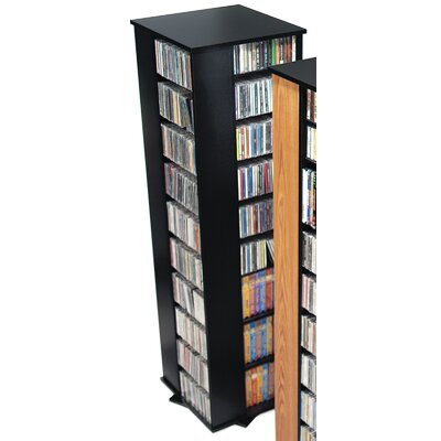 Deluxe Spinning 4-Sided Multimedia Revolving Tower Color: Black