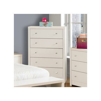 Calla White 5 Drawer Chest