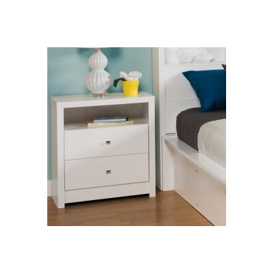 Calla Tall White 2 Drawer Nightstand