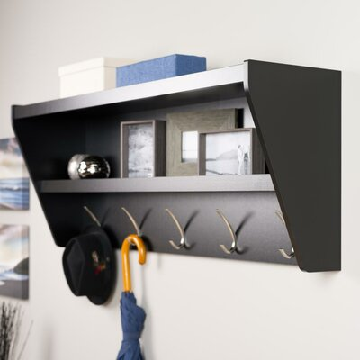 Prepac Floating Entryway Shelf & Coat Rack - Finish: Black at Sears.com