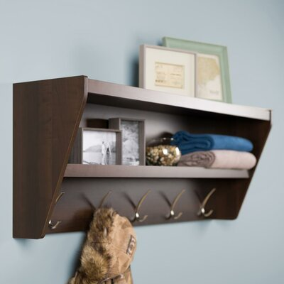 Prepac Floating Entryway Shelf & Coat Rack - Finish: Espresso at Sears.com