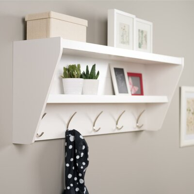 Prepac Floating Entryway Shelf & Coat Rack - Finish: White at Sears.com