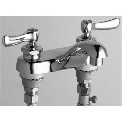 Centerset Bathroom Sink Faucet with Double Lever Handles