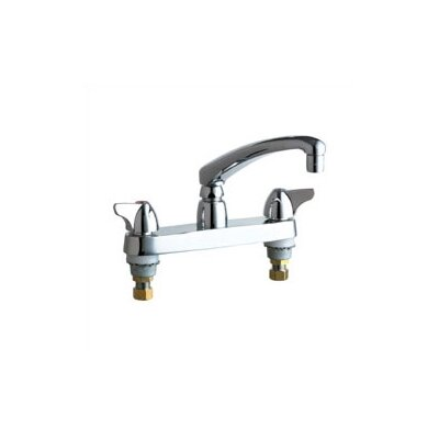 1100 Deck Mount Double Handle Widespread Kitchen Faucet