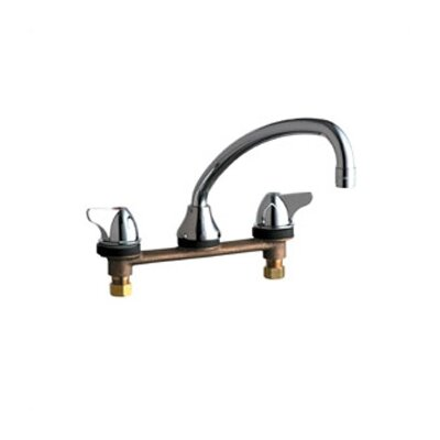 1888 Concealed Deck Mount Double Handle Widespread Kitchen Faucet