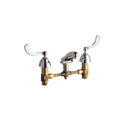 Widespread Bathroom Faucet with Double Wrist Blade Handles