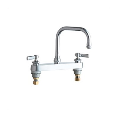 527 Deck Mount Double Handle Centerset Kitchen Faucet with Lever Handles