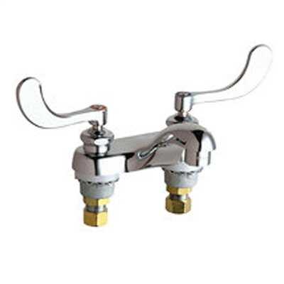 Centerset Bathroom Faucet with Double Wrist Blade Handles