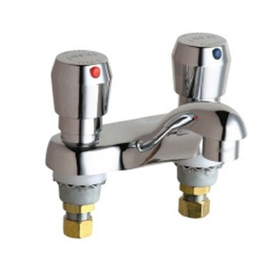 Metering Centerset Bathroom Faucet with Double Metering Handles