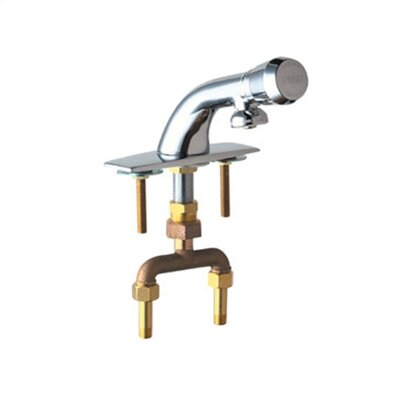 Centerset Bathroom Faucet with Single Pump Handle