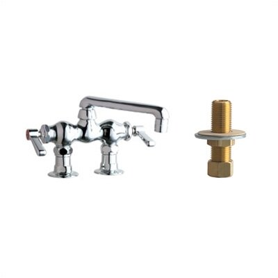 "Chicago Faucets 772 Above Deck Mount Dbl. Handle Widespread Bridge Faucet w/ Inlet Arms & 6"" Swing Spout -Optional Accessory:w/ Low Lead Facuet at Sears.com"