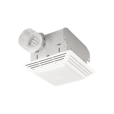 Heavy Duty 80 CFM Bathroom Exhaust Fan with Light