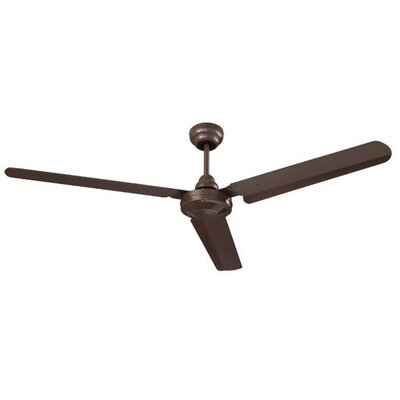 56 3-Blade Ceiling Fan Finish: Brown