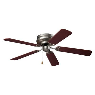 52 Hugger Series 5-Blade Ceiling Fan Finish: Brushed Steel