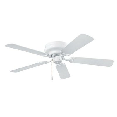 52 Hugger Series 5-Blade Ceiling Fan Finish: White