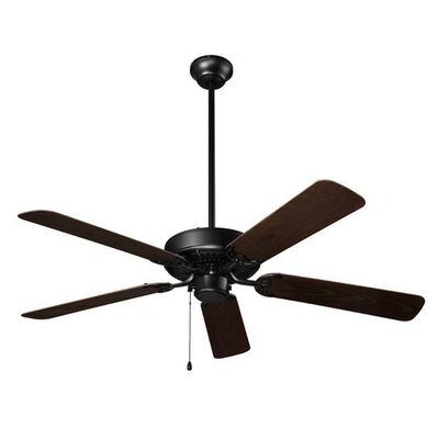 52 5-Blade Ceiling Fan Finish: Barbeque Black