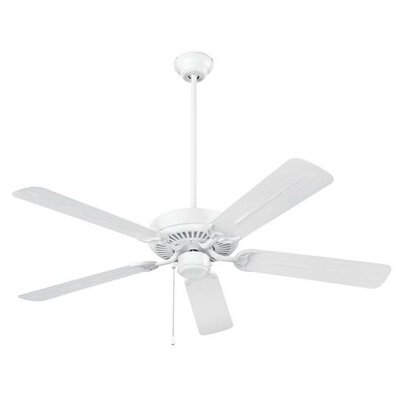 52 5-Blade Ceiling Fan Finish: White