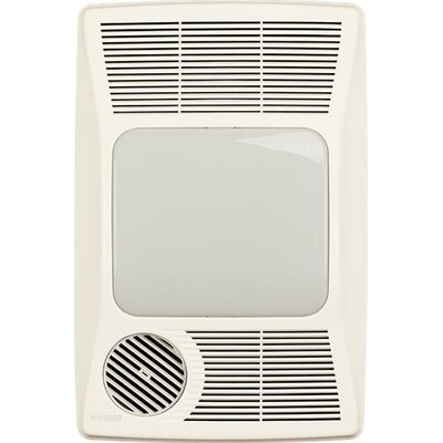 100 CFM Bathroom Fan with Heater and Fluorescent Light