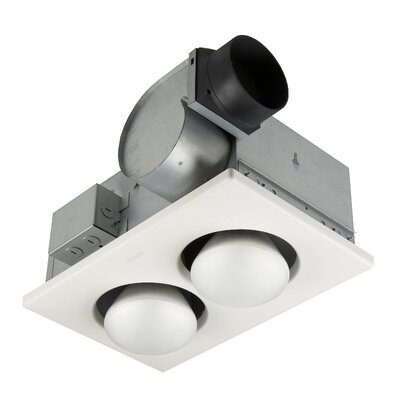 70 CFM Bathroom Fan with Two Bulb Heater