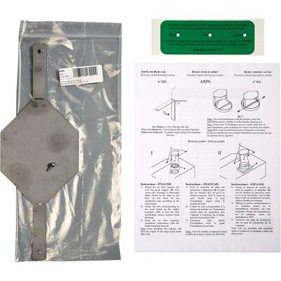 Air Flow Range Hood Reducer Kit Duct Accessory ARP6
